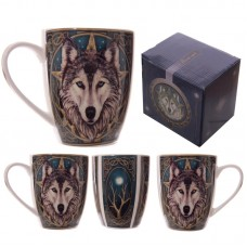Fantasy Wolf Head Design New Bone China Mug