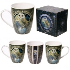 Fantasy Barn Owl Design New Bone China Mug