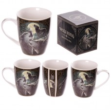 New Bone China Fantasy Wolf Song Design Mug