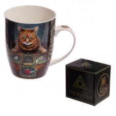 New Bone China Mug - Fantasy Cat with Tarot Cards