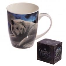 New Bone China Mug - Fantasy Wolf Guardian