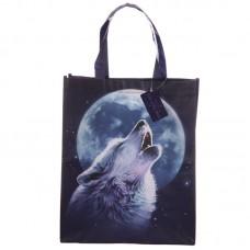 Mystical Wolf Design Durable Reusable Shopping Bag