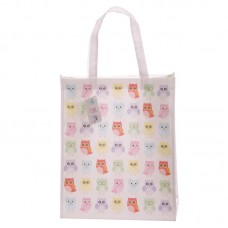 Cute Colourful Owl Design Durable Reusable Shopping Bag