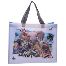 Fun Selfie Animals Durable Reusable Shopping Bag - African