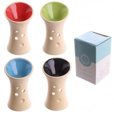Bright Coloured Fluted Design Ceramic Oil Burner
