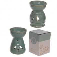 Decorative Mottled Turquoise Glaze Ceramic Oil Burner