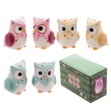 Ceramic Polka Dot Owl Salt & Pepper Set