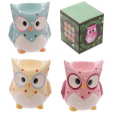 Ceramic Polka Dot Owl Egg Cup
