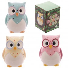 Cute Novelty Polka Dot Ceramic Owl Money Box