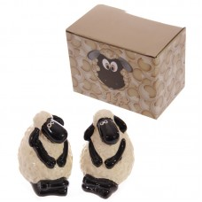 Novelty Cartoon Sheep Design Ceramic Salt and Pepper
