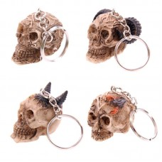 Fantasy Celtic Skull Head Key Chain