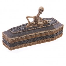Fantasy Skull and Skeleton Casket Trinket Box