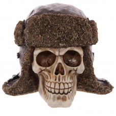 Gruesome Skull Aviator Hat Ornament