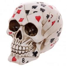 Gruesome Skull of Cards Ornament