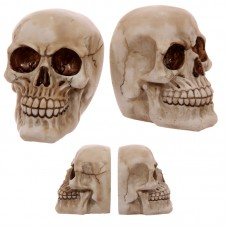 Gruesome Skull Pair of Bookends Ornament
