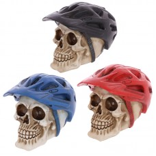 Gothic Skull Decoration wearing Cycling Helmet