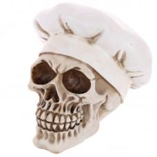 Gothic Skull Decoration wearing Chefs Hat