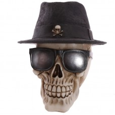 Gothic Skull Decoration wearing Trilby Hat