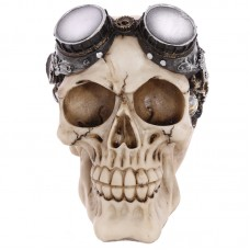 Gothic Steam Punk Skull Decoration with Goggles