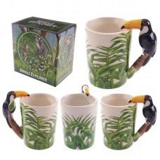 Novelty Ceramic Jungle Mug with Toucan Shaped Handle