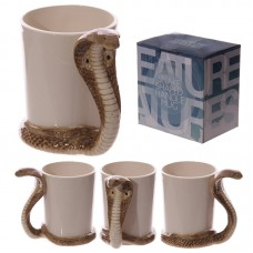 Fun Snake Shaped Handle Cobra Ceramic Mug