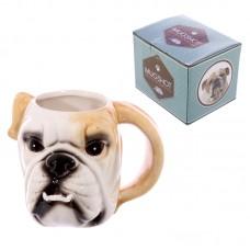 Novelty Ceramic Bulldog Head Ceramic Mug