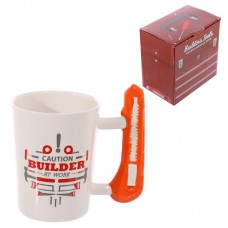 Novelty Shaped Handle Ceramic Tool Mug - Safety Knife