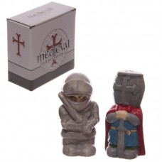 Medieval Knights Ceramic Salt and Pepper Set