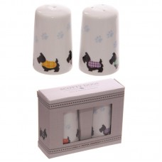 Porcelain Salt and Pepper Set - Cute Scottie Dogs Design