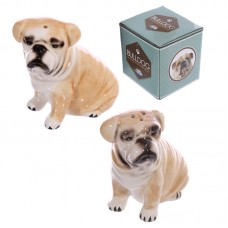 Novelty Ceramic Salt and Pepper Set - Bulldog