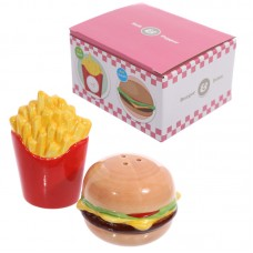 Novelty Fast Food Burger and Fries Salt and Pepper Set