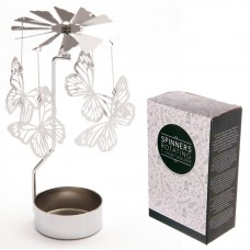 Butterfly Design Metal Tealight Spinner