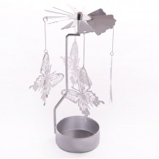 Cute Butterfly Design Metal Tealight Spinner