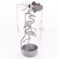 Funky Flamingo Design Metal Tealight Spinner