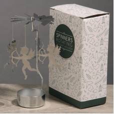 Cupid Design Metal Tealight Spinner