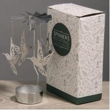 Hummingbird Design Metal Tealight Spinner