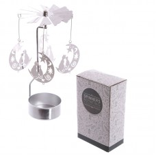 Moon and Cat Design Metal Tea Light Spinner