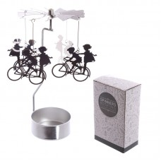 Cycling Design Metal Tea Light Spinner