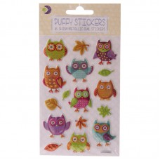 Fun Kids Craft Stickers - Glossy Embossed Owl