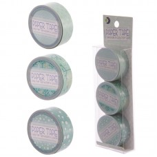3 Roll Paper Self Adhesive Gift Tape - Winter Designs