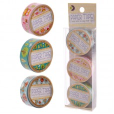 3 Roll Paper Adhesive Gift Tape - Owl and Hot Air Balloon