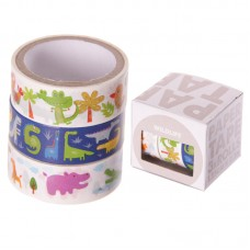 3 Roll paper Adhesive Gift Tape - Animal Designs