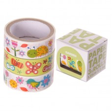 3 Roll paper Adhesive Gift Tape - Flowers and Wildlife