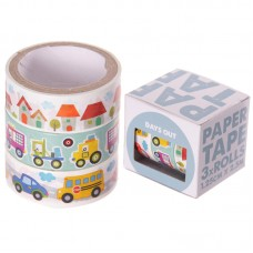 3 Roll paper Adhesive Gift Tape - Car Designs