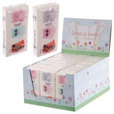 36 Packs of Fun Owl Design Pocket Tissues