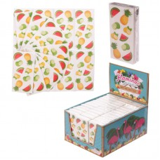 Display of 36 Pocket Tissues - Tropical Fruit Designs