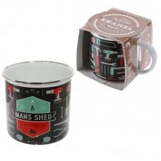 Fun Enamel Mug - Man Shed is His Castle
