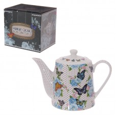 Butterfly and Chintz New Bone China 1 Litre Teapot