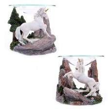 Fantasy Unicorn Design Oil Burner with Glass Dish