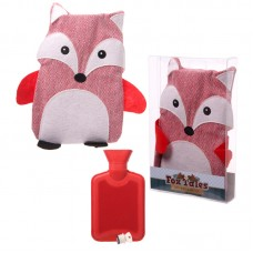 Hot Water Bottle with Cover 1L - Tweed Fox